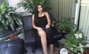 Outdoors In Ebony Dress