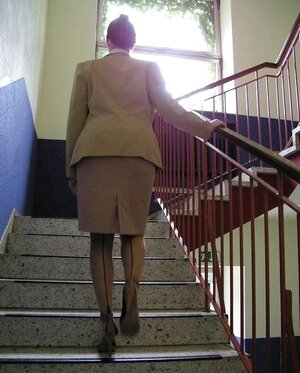 Angel Unclothes On The Schoolstairs