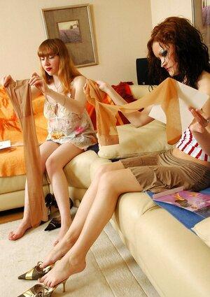Tharrida&Marina showcasing their lovely feet