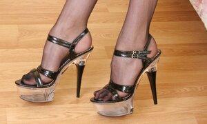 Myrka horny nylon feet teaser