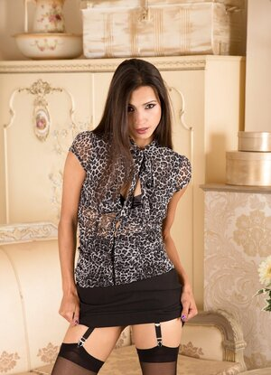 Exotic sweetheart is a vision of naughty perfection as she opens up her cunt