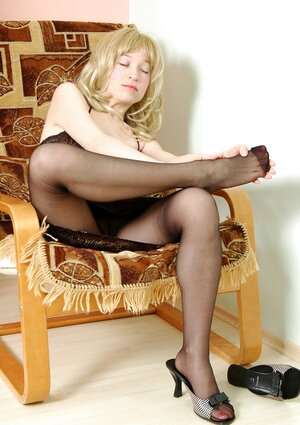 Polly&Gilbert  awesome nylon footsex