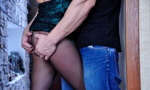 Jenny F&Nicholas nasty anal tights duo